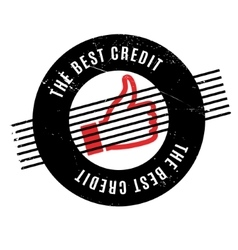 The best credit rubber stamp vector