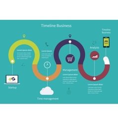 Timeline Infographic business vector image