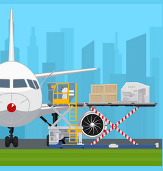 Transportation and air cargo services vector
