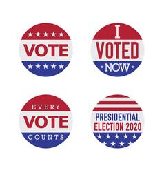 Voting badge set vector