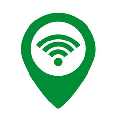 wifi connection map pointer vector image