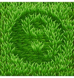 Ying-yang symbol on green grass vector