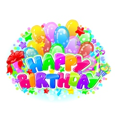 Birthday bright composition vector image vector image