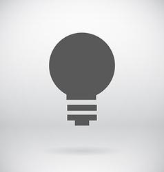 Flat Save Energy Bulb Light Icon Symbol Background vector image
