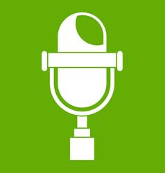retro microphone icon green vector image vector image