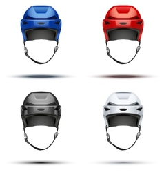 Set of Classic Ice Hockey Helmets vector image vector image