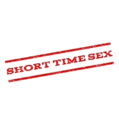 Short Time Sex Watermark Stamp vector image