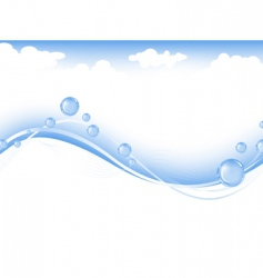 sky and sea vector image vector image