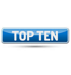 Top ten - abstract beautiful button with text vector