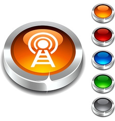 Communication 3d button vector image vector image