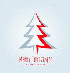 creative christmas tree design in paper cut style vector image