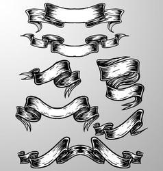 sketch scroll banner vector image