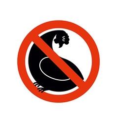 Stop chicken hen trespassing Banning Red sign vector image