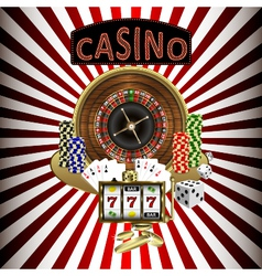 Casino theme vector