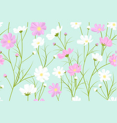 floral pattern with cosmos flowers vector image