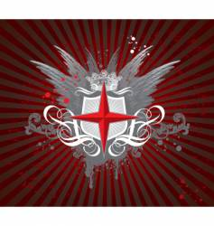 heraldic composition vector image vector image
