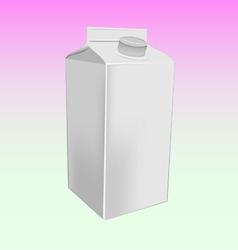 Milk box mockup vector