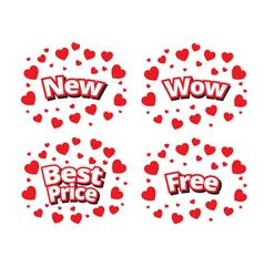 Set of sale banner promotion set vector