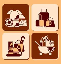 accessories icons vector image vector image