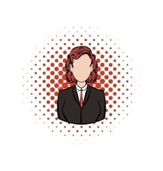 Business woman comics icon vector image vector image