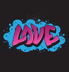 love graffiti style graphic vector image vector image