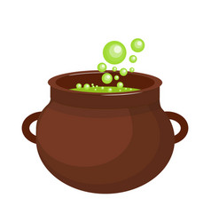 pot with a potion icon flat style isolated on vector image