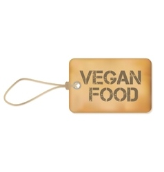 Vegan Food Old Paper Grunge Label vector image vector image