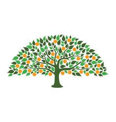 abstract orange tree vector image