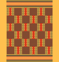 African seamless pattern cloth kente tribal vector