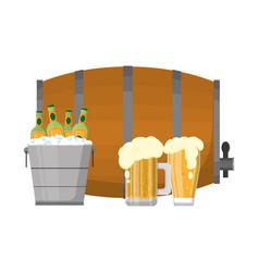 Alcoholic drink cartoon vector