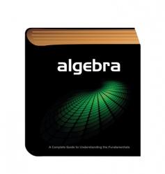 algebra book vector image