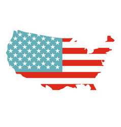 american map icon isolated vector image