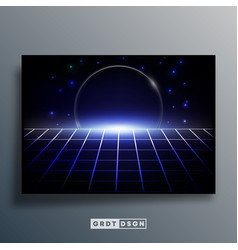 background template with retro design space vector image