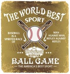 baseball world sport vector image