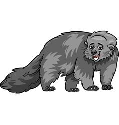 Bearcat animal cartoon vector