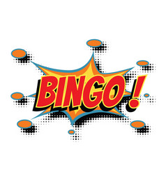 bingo comic word vector image