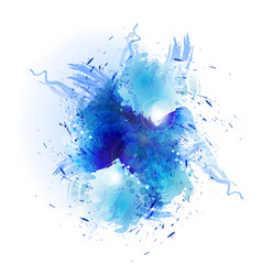 blue art splash vector image