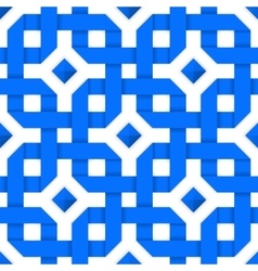 Blue crossed ribbons Seamless pattern vector image