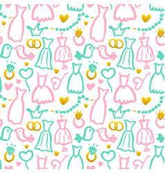bridal party seamless pattern vector image