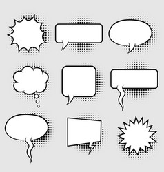 bubble speech with halftone vector image
