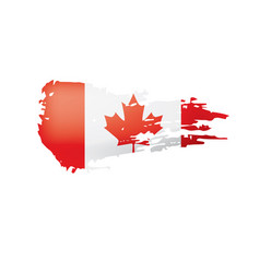 Canada flag on a white vector