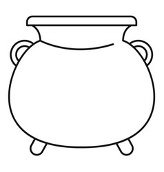 Cauldron pot icon outline style vector