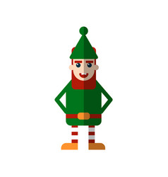 chistmas elf flat isolated on vector image