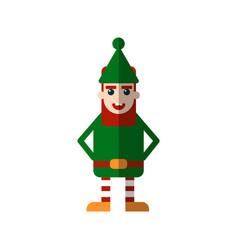 christmas elf flat isolated vector image