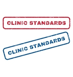 Clinic Standards Rubber Stamps vector