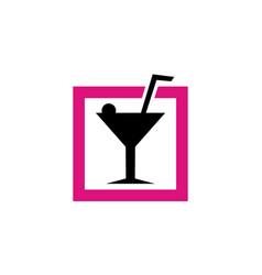 Cocktail canvas studio vector