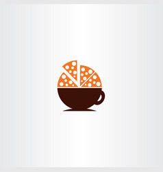 Coffee and pizza logo icon vector
