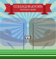 College Football Playoffs vector