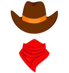 colorful cartoon cowboy avatar vector image