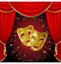 comedy tragedy mask vector image vector image